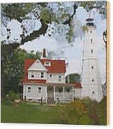 Lake Park Lighthouse Wood Print