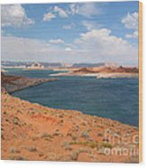 Lake Powell Landscape Panorama Wood Print