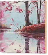 Lake Reflections Wood Print by Graham Gercken