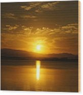 Lake Samsonvale Sunset Wood Print