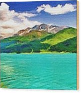 Lake Sils Wood Print