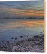 Lake Sunset Wood Print