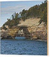 Lake Superior Pictured Rocks 17 Wood Print