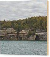 Lake Superior Pictured Rocks 45 Wood Print