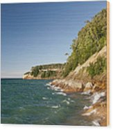 Lake Superior Shoreline Wood Print