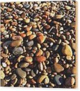 Lake Superior Stones Wood Print