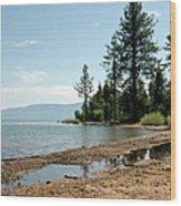 Lake Tahoe Beach Wood Print