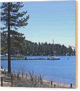 Lake Tahoe Dock Wood Print
