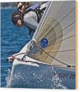 Lake Tahoe Regatta Wood Print