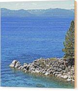 Lake Tahoe Rocky Point Wood Print