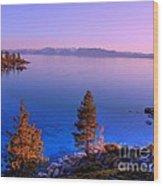 Lake Tahoe Serenity Wood Print