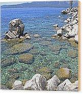Lake Tahoe Shore Wood Print