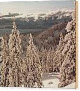 Lake Tahoe Snow Wood Print