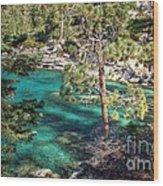 Lake Tahoe Swimming Hole Wood Print