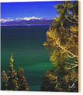 Lake Tahoe Vista Wood Print