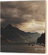 Lake Wakatipu At Sunset Wood Print