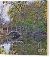 Lake Wingra Bridge Wood Print