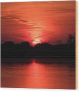 Lake Wingra Sunrise Wood Print