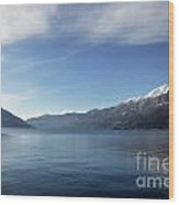 Lake With Snow-capped Mountain Wood Print