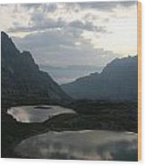 Lakes In Dolomiti Wood Print