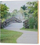 Lakes Park Wood Print