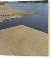 Lakeside Dock Wood Print