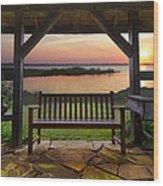 Lakeside Serenity Wood Print