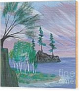 Lakeside Symphony Wood Print by Robert Meszaros