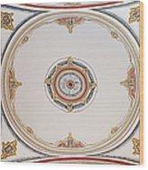 Laleli Mosque Ceiling Wood Print