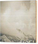 Lamayuru Monastery Sits Amid A Mountain Wood Print