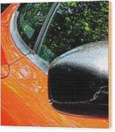 Lamborghini Mirror And Intake Wood Print