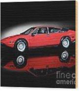Lamborghini Urraco 1972 Wood Print