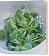 Lamb's Lettuce Wood Print