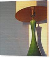 Lamp And Shadows Wood Print