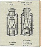 Lamp Pomeroy 1894 Patent Art Wood Print by Prior Art Design