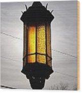 Lamp Post At The Church Wood Print