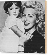 Lana Turner Right, And Daughter Cheryl Wood Print