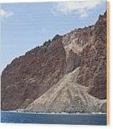 Lanais Coastline Cliffs Wood Print
