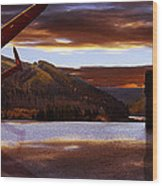 Lancaster Over Howden Dam Wood Print