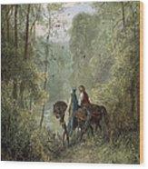 Lancelot & Guinevere Wood Print