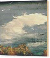 Land Meets Sky Wood Print