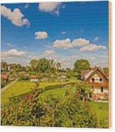 Landliches Dorf  Wood Print