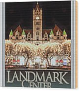 Landmark Center Winter Wood Print