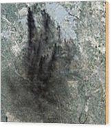 Landsat Image Of Baghdad Showing Dark Wood Print