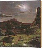Landscape - Moonlight Wood Print
