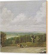 Landscape - Ploughing Scene In Suffolk Wood Print