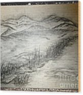 Landscape 50 Wood Print