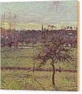 Landscape At Eragny Wood Print