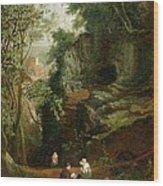 Landscape Near Clifton Wood Print