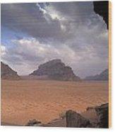 Landscape Of The Desert Wood Print by Richard Nowitz